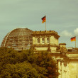 Retro looking Berlin Reichstag — Stock Photo
