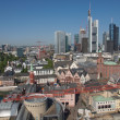 Aerial view of Frankfurt — Stock Photo