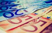 Obrázek retro vzhled eur — Stock fotografie