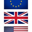 EU UK USA flag vignetted illustration — Stock Photo #33169849