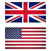 UK and USA flag vignetted illustration — Stock Photo
