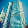 Retro look European Central Bank in Frankfurt — Stock Photo