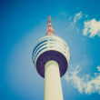 Retro look TV tower in Stuttgart — Stock Photo