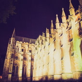 Vintage look Westminster Abbey — Stock Photo