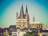 Retro-look köln dom — Stockfoto