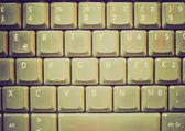 αναδρομικό βλέμμα υπολογιστή πληκτρολόγιο — Φωτογραφία Αρχείου