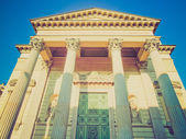 Retro look San Massimo church, Turin — Stock Photo