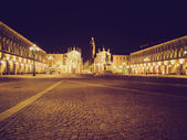 Retro look Piazza San Carlo, Turin — Stock Photo