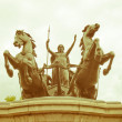 Retro looking Boadicea monument, London — Stock Photo #33628325