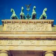 Retro look Brandenburger Tor, Berlin — Stock Photo #33628637
