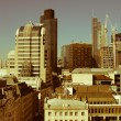 Retro looking City of London — Foto Stock