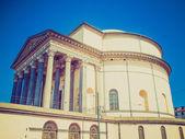 Retro look Gran Madre church Turin — Stock Photo