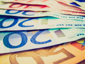 Retro görünüm euro resmi — Stok fotoğraf