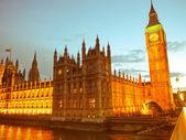 Retro patrząc Westminsterski — Zdjęcie stockowe