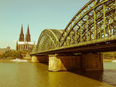 Retro looking Koeln panorama — Stock Photo