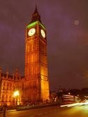 Retro looking Big Ben — Stock Photo