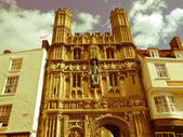 Retro looking St Augustine Gate in Canterbury — Stock Photo