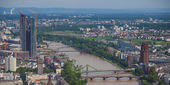 Frankfurt am Main panorama — Stock Photo