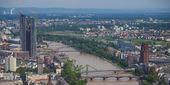 Panorama de frankfurt am main — Fotografia Stock