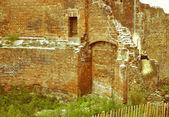 Retro looking Roman Wall, London — Stock Photo