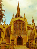 Retro looking Holy Trinity Church, Coventry — Stock Photo