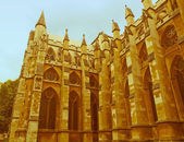 Retro looking Westminster Abbey — Stock Photo