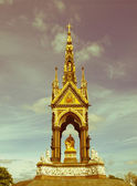 Retro looking Albert Memorial, London — Stock Photo