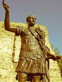 Retro looking Emperor Trajan Statue — Stock Photo