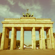 Retro looking Brandenburger Tor, Berlin — Stock Photo #34222979