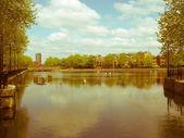 Retro looking Surrey Water, London — Stock Photo