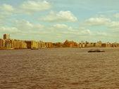Retro looking London docks — Stock Photo