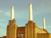 Retro looking Battersea Powerstation London — Stock Photo