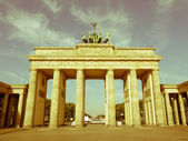 Retro looking Brandenburger Tor, Berlin — Stock Photo