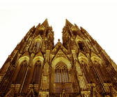 Retro looking Koeln Dom — Stockfoto