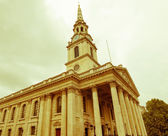 Retro looking St Martin church, London — Stock Photo