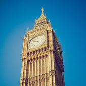 Vintage look Big Ben London — Stock Photo
