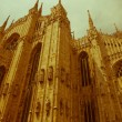 Retro looking Duomo, Milan — Stock Photo