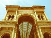 Retro looking Galleria Vittorio Emanuele II, Milan — Stock Photo