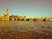 Retro looking Westminster Bridge, London — Stock Photo