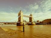 Retro looking Tower Bridge, London — Stock Photo