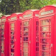 Vintage look London telephone box — Stock Photo