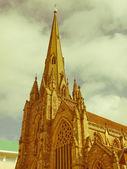 Retro söker st philip katedralen, birmingham — Stockfoto