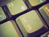 Retro look Computer keyboard — Stock Photo