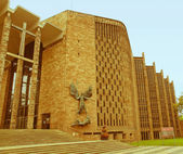 Retro looking Coventry Cathedral — Stock Photo