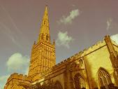 Retro looking Holy Trinity Church, Coventry — Stock Photo