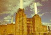 Retro zoek battersea powerstation londen — Stockfoto