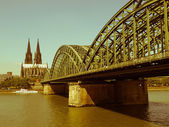 Retro looking Koeln panorama — Stockfoto