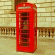 Retro looking London telephone box — Stock Photo #35039607