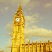 Retro looking Big Ben London — Stock Photo