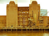Retro looking Battersea Powerstation London — Stock Photo